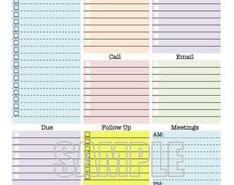 daily tasks checklist