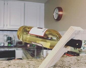 Wine Bottle Wood Floating Holder