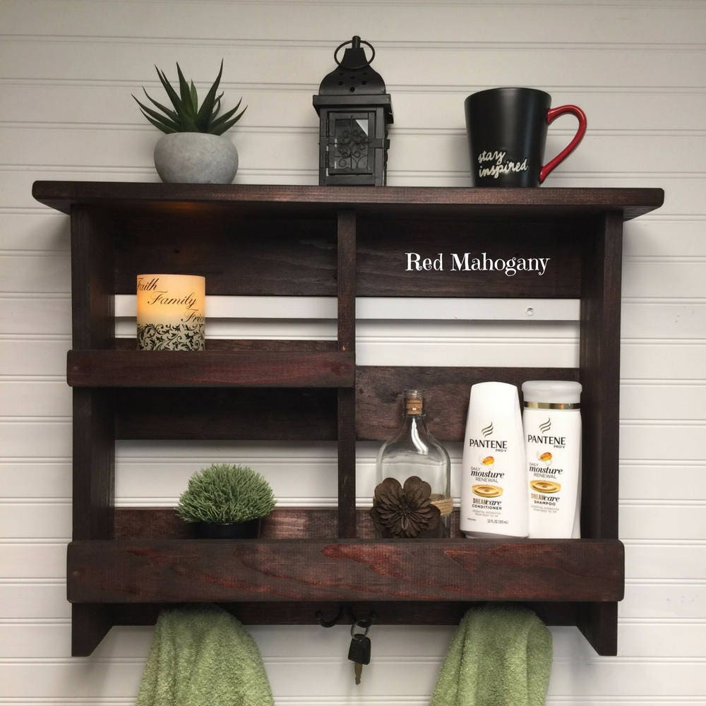 Bathroom Shelf | Bathroom Storage | Rustic Bath Towel Rack | Bathroom  Organizer | Rustic Wooden Bathroom Decor | Bathroom Shelf