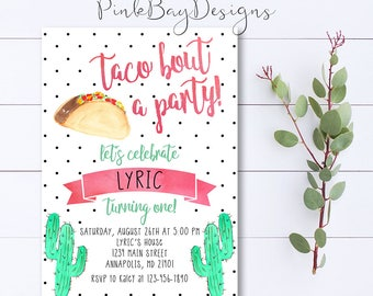 Taco invite taco baby shower taco birthday fiesta taco taco birthday invitation taco bout a party invite taco invitation cactus birthday stopboris Image collections