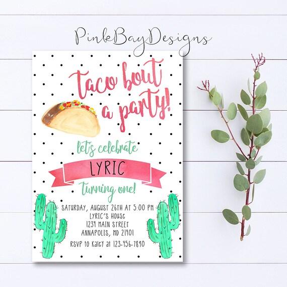 Taco birthday invitation taco bout a party invite taco stopboris Images