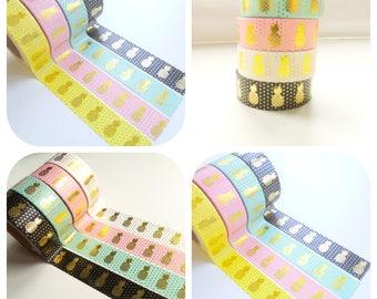 10 m Masking Tape Washi tape gold pineapple Tape