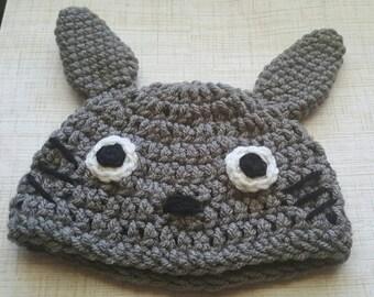 Totoro Baby Hat, Crochet Totoro Beanie, Totoro Knit Baby, Toddler Hat, Baby Halloween Costume, Baby Costume, Newborn Photo Prop, Cake Smash