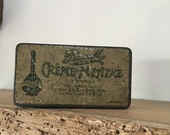 Vintage Creme Menthe tin