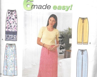 Simplicity 9139 - Six Made Easy - Misses Skirts, Pants or Shorts  sizes XS - XL - New/uncut