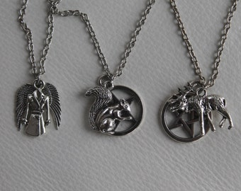 Team Free Will (Dean, Sam & Cas) Necklace Set