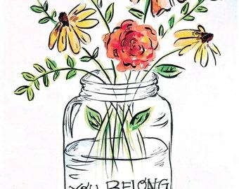 Wildflowers Watercolor Digital DOWNLOAD