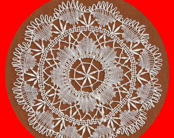 ON SALE Vintage Delicate Lace Doily Ivory White Round 5-1/2 Inch Diameter Candles Junk Journals Scrapbooks
