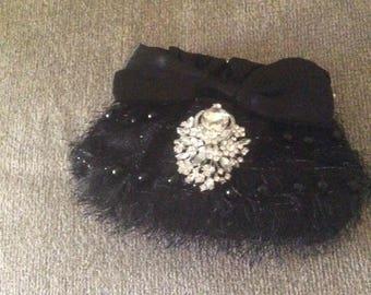 Evening Clutch Bag, Prom Bag, Custom Evening Bag, Black Clutch Bag