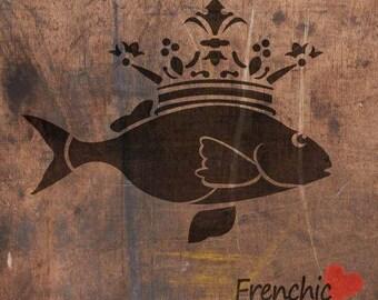 A4 Stencil - The Fish Prince