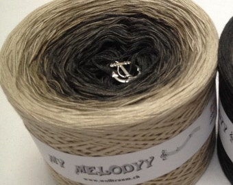 Black Pearl - Ombre Yarn -Brown Cotton Yarn - Brown Acrylic Yarn - Black Cotton Yarn - Black Acrylic Yarn - Wolltraum Yarn - Gradient Yarn