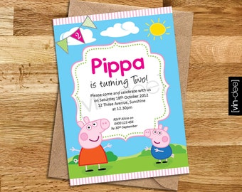 Peppa Pig Birthday Invitation - DIY Printable