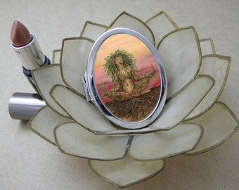 Dryad Spirit Compact Fantasy Art Mirror