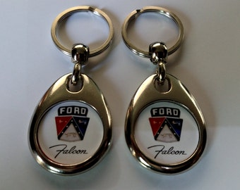 FORD FALCON KEYCHAIN 2 pack double sided classic car fob logo