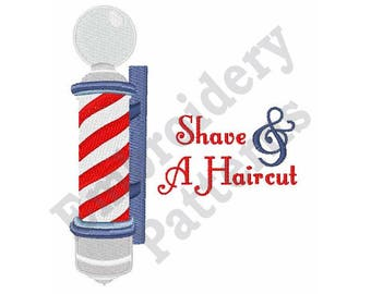 Shave & A Haircut - Machine Embroidery Design