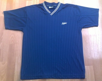 FUBU jersey, vintage t-shirt blue shirt of 90s hip-hop clothing, sewn, 1990s hip hop, OG, gangsta rap, size M, RARE!