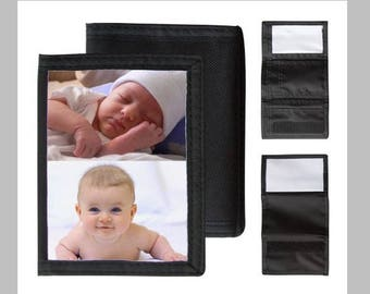 Personalized wallet, first name choice with photo or drawing of your choice