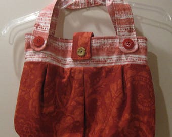 Red Paisley Handbag/Tote