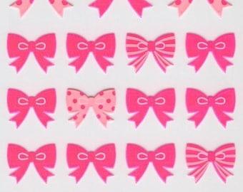 Ribbon Stickers - Pink Ribbon Reflection Stickers - Mind Wave - Reference F382F722F1480F2760