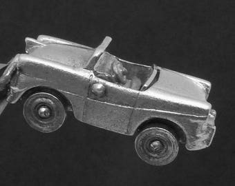 Vintage Wells Sterling Silver Moveable Convertible Car Charm Pendant 23240
