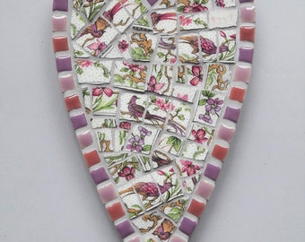 Vintage China Mosaic Heart