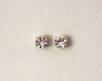 9 mm Round Swarovski Crystal Magnetic Non-Pierced Earrings