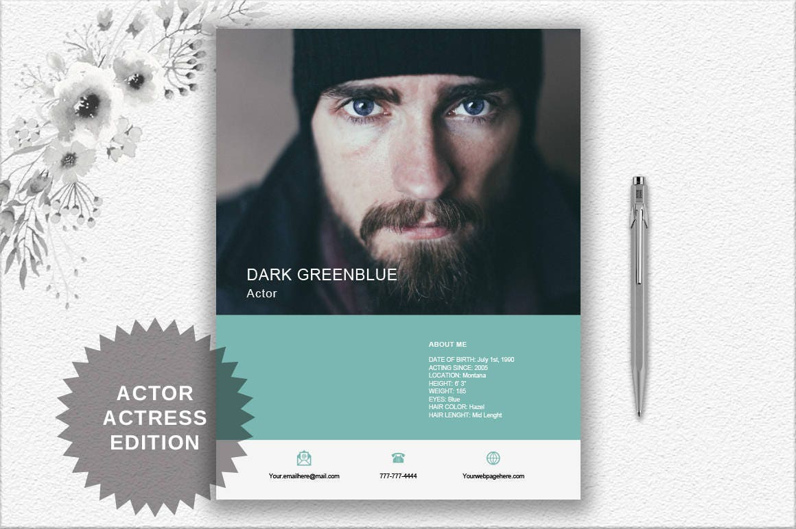 Actor Resume Template With Photo Cover Letter Writing Tips