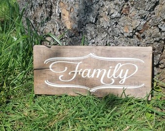 Small Family Sign