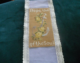 Reproduction Embroidered Bookmark, Victorian, Civil War, New