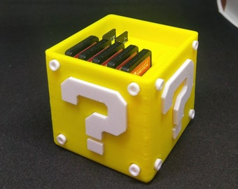 Nintendo Switch or 3DS Question Block Game Case | Video Game | Retro Gaming | Mario | Zelda | 3D Printed |