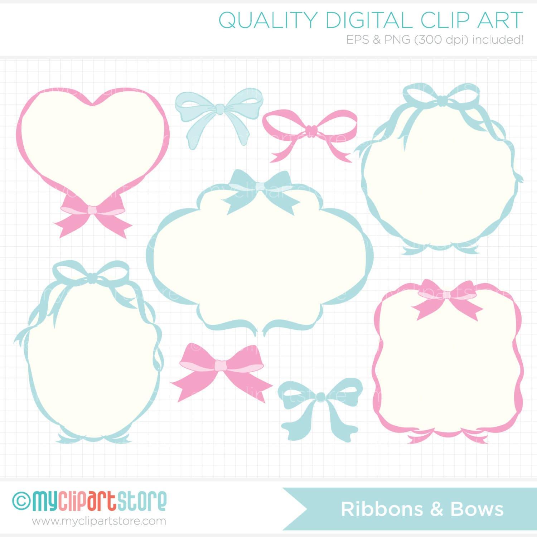 Frames - Ribbons & Bows / Princess Blog Header Banners Clip Art ...