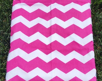 Stylish Pink Chevron Wet/Dry Bag Wet or  Swimsuit Bag and Eco-Friendly