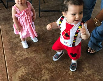 Boy's Mickey Mouse Birthday outfit