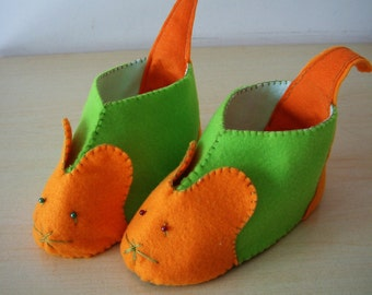 Felt shoes pattern-DIY felt mouse shoes-PDF pattern(7 different size)-H04