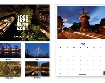 Dark Utrecht Calendar 2018, photo calendar, wall calendar, calendar for 12 months, 49x34 cm
