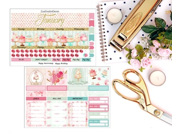 Custom Birthday Monthly View for your Erin Condren Life Planner/Happy Planner