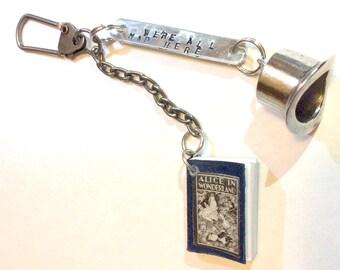 Alice in Wonderland Miniature Book Keychain