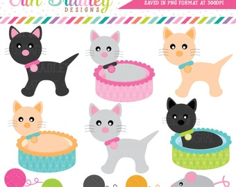 Cat Clipart Commercial Use Clip Art Graphics Instant Download