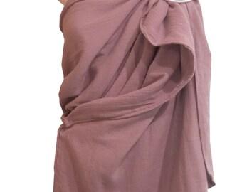 Ring Sling Blossom, Gauze Grey fabric, Ring sling Gauze, Baby sling, Baby wrap sling, Baby carrier sling