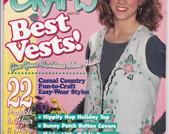 Wearable Crafts Magazine, April 1995, Craft Projects to Wear & Share, Wearable Craft Project Assortment