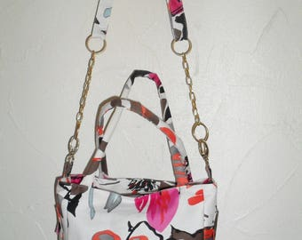 "chain and cotton fabric shoulder bag ""ColaPass'"""