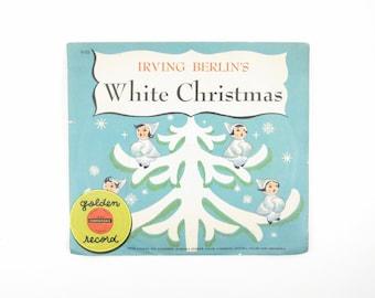 Irving Berlin's White Christmas Little Golden Records Children's 45 Yellow Record