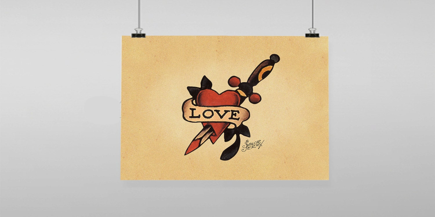 Old Fashioned Sailor Jerry Wall Art Ornament - Wall Art Ideas ...