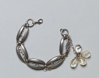 bracelet made of vintage chains & vintage resin pendants, unique