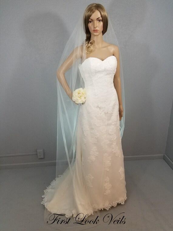 Ivory Wedding Veil, Bridal Chapel Veil, One Layer Plain Viel, Wedding Vail, Long Veil, Bridal Accessory, Bridal Accessories, Wedding, Bride