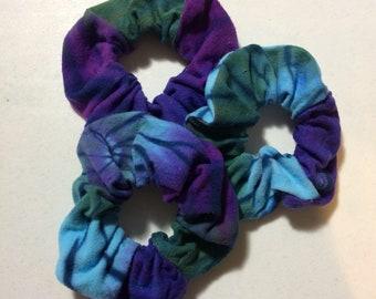 Flannel Scrunchies, Tie Dye Scrunchies, Extra Large Scrunchie, Hair Elastic, Ponytail Holder, Scrunchie, Hair Tie, Scrunchy