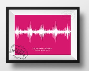 8x10 5 x7 11x 14 4x6  Baby Heartbeat - Soundwave Printable art | baby shower | nursery art |  baby memories | DIGITAL FILE