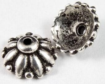 10mm Antique Silver Tierracast Pewter Dharma Bead Cap #CKA113