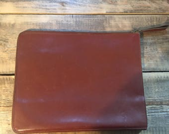 Pouch / brown leather Briefcase