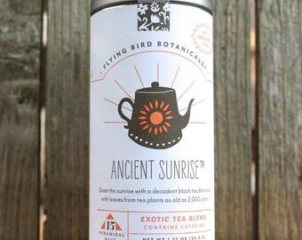 0433 Ancient Sunrise 15bag tin, fine organic fair trade tea